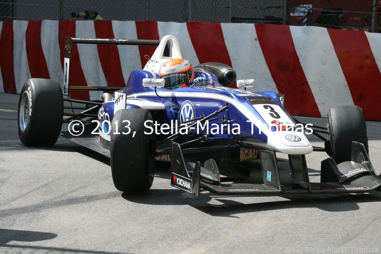 2013 Star River-Windsor Arch Formula 3 Macau Grand Prix – Grid Amendments