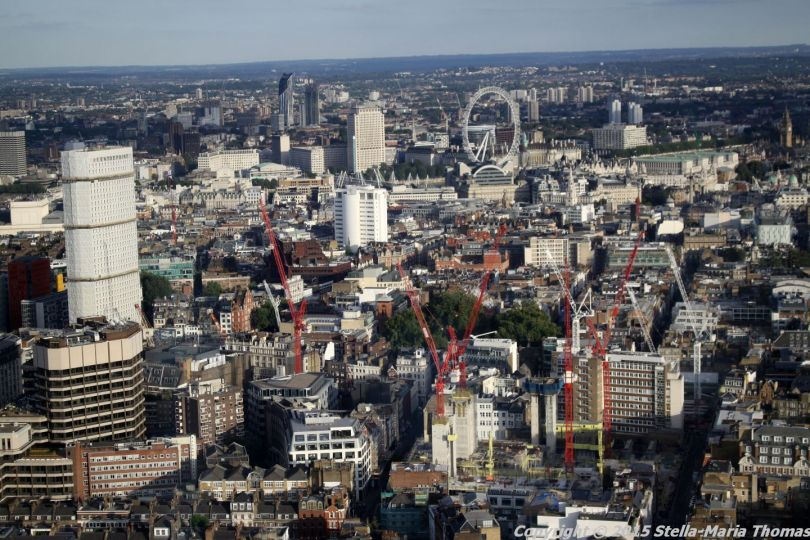 BT TOWER 50TH BIRTHDAY, VIEW FROM THE TOP 022