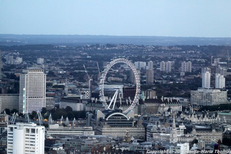 BT TOWER 50TH BIRTHDAY, VIEW FROM THE TOP 048