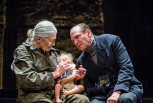 Vanessa Redgrave and Ralph Fiennes in Richard III. Photo: Tristram Kenton