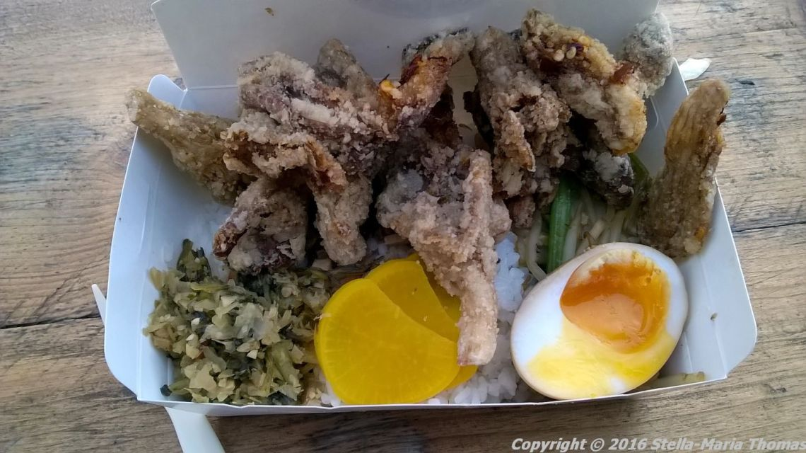 bian-dang-crumbed-oyster-mushrooms-short-grain-rice-pickles-stir-fried-vegetables-shitake-mushroom-sauce-and-marbled-tea-egg-004