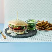 Food Box Lamb Burger with Minty Mayo