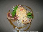 ROUX AT PARLIAMENT SQUARE, RIESLING WINE DINNER, SEARED TUNA, SOY, SESAME, KOHLRABI 003