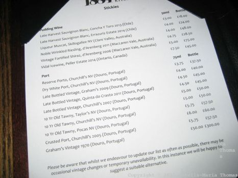 1884 DOCK STREET KITCHEN, DESSERT WINE LIST 021
