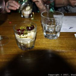 LONDON SHELL COMPANY, SYLLABUB WITH GOOSEBERRY COMPOTE AND PISTACHIO 037