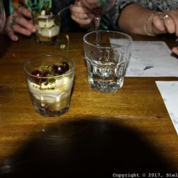 LONDON SHELL COMPANY, SYLLABUB WITH GOOSEBERRY COMPOTE AND PISTACHIO 038