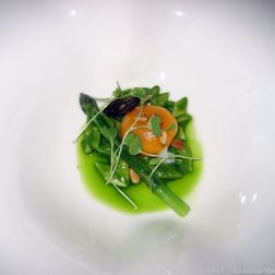 PARIS HOUSE, ALSACE WINE DINNER, ASPARAGUS (CONFIT HENS EGG, SEASONAL MUSHROOM, WILD GARLIC) 015