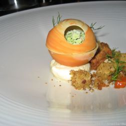 PARIS HOUSE, ALSACE WINE DINNER, CARROT (WHITE CHOCOLATE, DILL, MASCARPONE, GINGER) 020