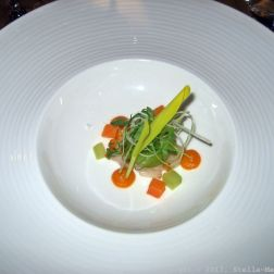 PARIS HOUSE, ALSACE WINE DINNER, LECHE DE TIGRE (HAMACHI, CHILLI, SWEET POTATO) 013