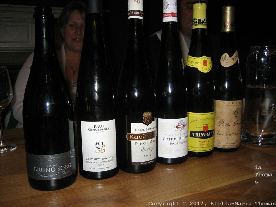 PARIS HOUSE, ALSACE WINE DINNER, WINES 021