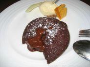 RASCILLS, CHOCOLATE FONDANT, WHITE CHOCOLATE ICE CREAM AND HONEYCOMB 011