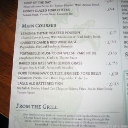 THE NARROW BOAT, MENU 005