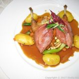 RESTAURANT BELLE EPOQUE - WHOLE ANJOU PIGEON IN A ROMERTOPF, AUTUMN VEGETABLES, SMALL POTATOES AND TRUFFLE JUS 005