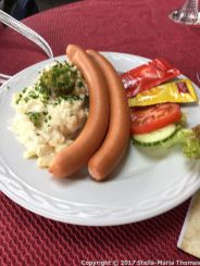 SCHLOSS COCHEM CAFE - WURST AND POTATO SALAD 001