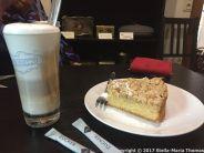 MANDERSCHEID CASTLE CAFE - LATTE MACHIATTO AND APPLE CAKE 001