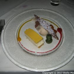 OLIVER'S RESTAURANT - HONEY AND PASSIONFRUIT MOUSSE CAKE, CARROT BISCUIT AND TONKA BEAN ICE CREAM 009