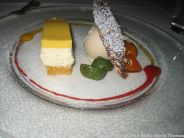 OLIVER'S RESTAURANT - HONEY AND PASSIONFRUIT MOUSSE CAKE, CARROT BISCUIT AND TONKA BEAN ICE CREAM 010