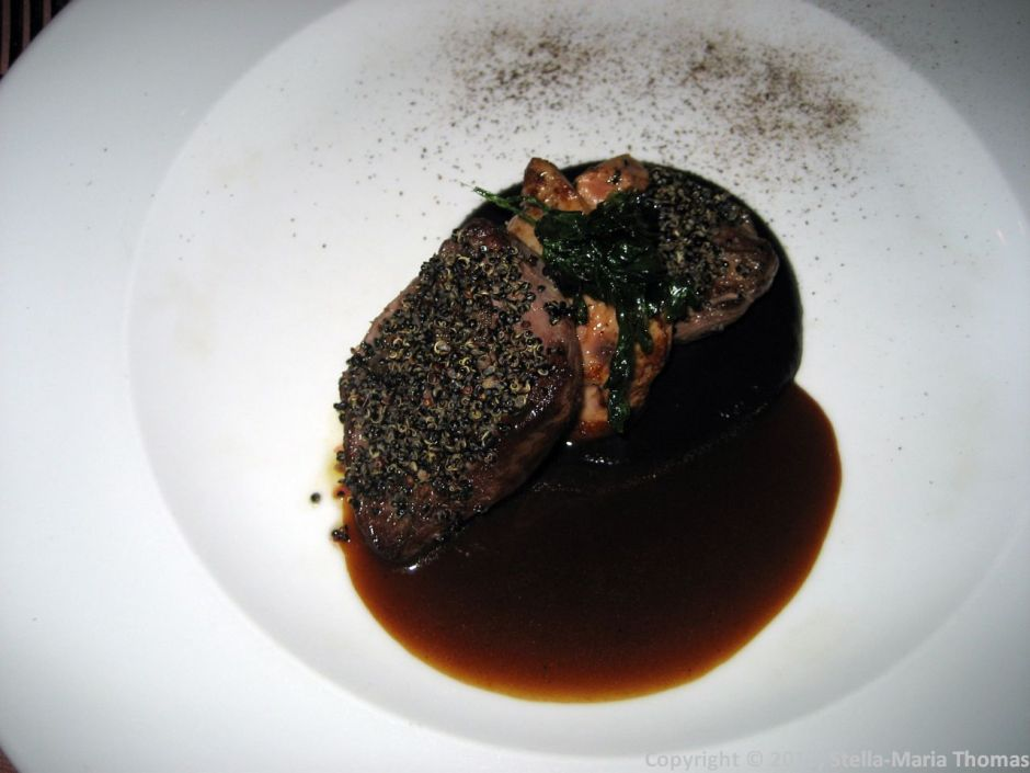 CYRANO DE BEGERAC, PIGEON FILLET WITH FOIE GRAS AND PORT 003