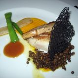 WENTZL, REDFISH FILLET, SQUID INK CHIPS, SALSIFY WITH ANISE, FISH SAUCE 009
