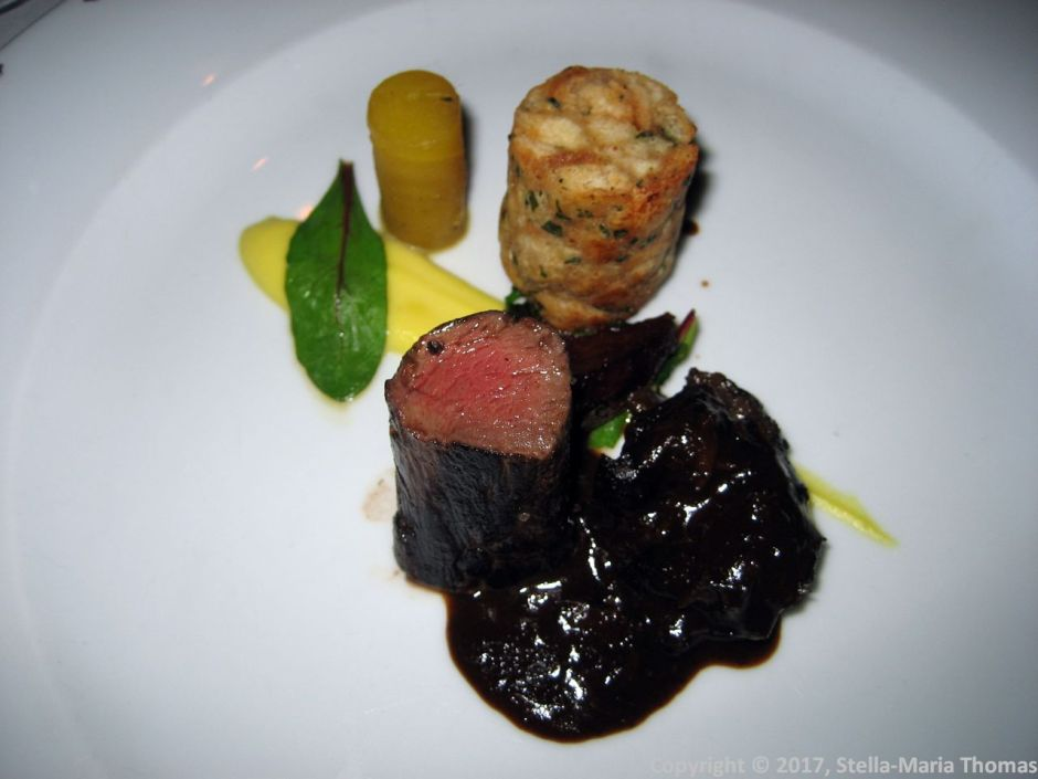 WENTZL, WILD BOAR TENDERLOIN AND CHEEK, WHEAT DUMPLING, YELLOW BEETROOTS WITH WILD GARLIC 012