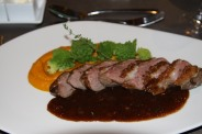 RESTAURANT HOTEL MOSELSCHLOSSCHEN - DUCK WITH PUMPKIN PUREE AND ROMESCUE 003