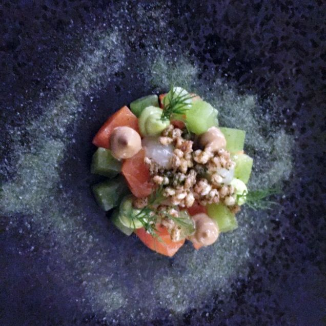 THE OXFORD KITCHEN, GIN-CURED TROUT, DILL, LEMON, PUFFED WHEAT 008