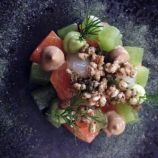 THE OXFORD KITCHEN, GIN-CURED TROUT, DILL, LEMON, PUFFED WHEAT 009