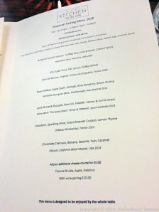 THE OXFORD KITCHEN, MENU 001