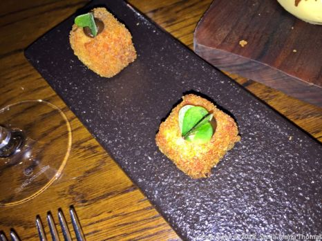 THE OXFORD KITCHEN, PULLED PORK AND APPLE GEL CUBES 005