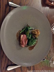 THE OXFORD KITCHEN, ROAST LAMB RUMP AND SHOULDER, BROCCOLI, FREEKEH, LEMON AND CUMIN GRAVY 013