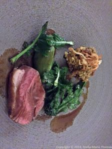 THE OXFORD KITCHEN, ROAST LAMB RUMP AND SHOULDER, BROCCOLI, FREEKEH, LEMON AND CUMIN GRAVY 014