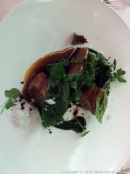 BLUE BAY, MONACO. SADDLE OF LAMB, LAMB SPICY SAUSAGE WITH GREEN VEGETABLES 009
