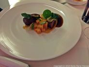 BLUE BAY, MONACO, SAUVAKE DUCKLING, SWEET AND SOUR SAUCE WITH HONEY AND TIMUT PEPPER, SWEET POTATO, MANGO, LEEK 011