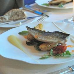 birthday-lunch-le-manoir-mackerel-potato-salad--chorizo-13th-february-2008-001_2264938839_o
