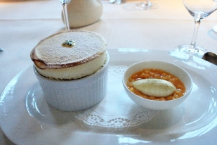 birthday-lunch-le-manoir-passion-fruit-souffle-banana-ice-cream-mango-salad-13th-february-2008-001_2264939935_o