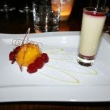 dinner-artisan-16th-february-2008---raspberries-mango-sorbet-white-chocolate-mousse_2272723734_o
