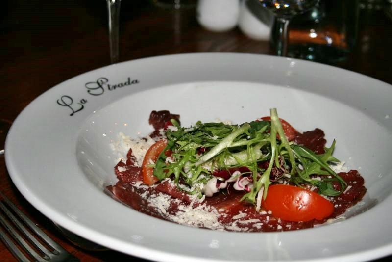 dinner-at-la-strada-15th-february-2008-carpaccio_2272715884_o