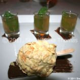 profondo-rosso---magnum-ice-cream-chocolate-mousse-with-raspberries-wrapped-in-white-chocolate-and-toasted-almonds-served-with-a-small-mojito-021_5631063565_o