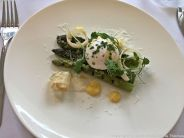 HIBISCUS. APRIL 2018, GRILLED ENGLISH ASPARAGUS, SHAVED WHITE ASPARAGUS, POACHED EGG, TRUFFLE MAYONNAISE TOPPED WITH PARMESAN 008