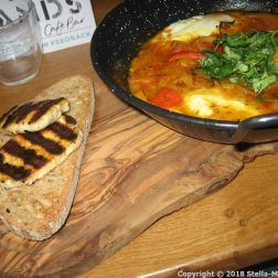 TEN HANDS CAFE, SOURDOUGH, HALLOUMI, SHAKSHUKA 005