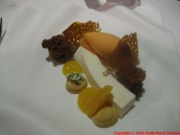 BORAO JATETXEA, BIZKAIA, CURD WITH SPICED PARSNIP SPONGE CAKE AND MULTI-FRUIT SORBET 021