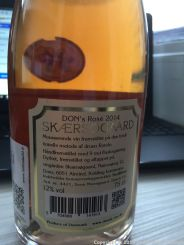 DON'S ROSE BRUT, SKAERSGAARD 2014 002