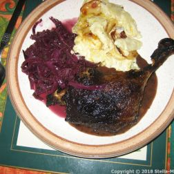 GOUSTO, DUCK WITH RED CABBAGE AND DAUPHINOISE POTATOES 014