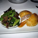 CHATEAU D'ETOGES, RABBIT PIE WITH ROSEMARY AND HAZELNUT, MESCLUN SALAD 008