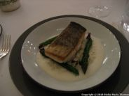 CHATEAU D'ETOGES, SEARED COD FILLET, CREAMY RISOTTO WITH GREEN ASPARAGUS, PARMESAN SAUCE 011