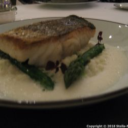 CHATEAU D'ETOGES, SEARED COD FILLET, CREAMY RISOTTO WITH GREEN ASPARAGUS, PARMESAN SAUCE 012