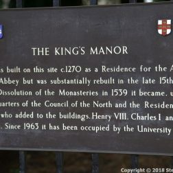 THE KING'S MANOR, YORK 001