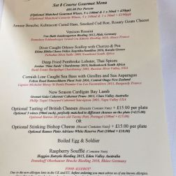 THE HARROW AT LITTLE BEDWYN, MENU 015