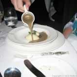 LE GAVROCHE, GAME DINNER, POTAGE ESSAÜ (PUY LENTIL AND PHEASANT SOUP) 007