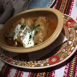 TSARSKE SELO, GOLUBTSY (CABBAGE STUFFED WITH VEAL, PORK, RICE, BULGARIAN PEPPERS, CARROTS, ONIONS, TOMATO SAUCE AND SOUR CREAM) 024